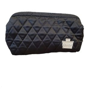 Caboodles black cosmetic bag with pink lining